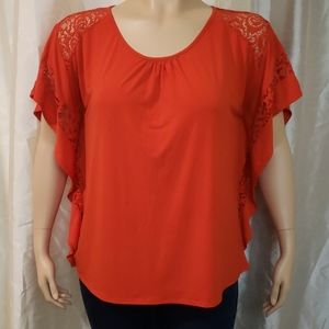 Red plus size top